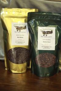 Green and Roasted Kona Coffee