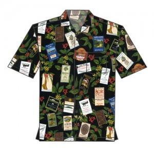 Kona Coffee Label Shirt